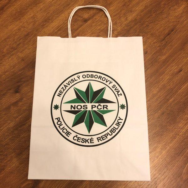 Papírová taška bílá - LOGO